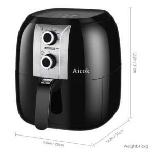 misure friggitrice ad aria aicok ahf001