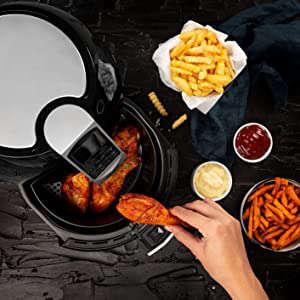 pricess xl aerofryer ideale per cucinare di tutto, patatine, verdure, pollo, carne, pane e dolci