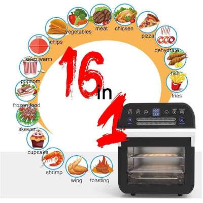 16 programmi preimpostati friggitrice ad aria calda bakaji 12 lt cusiner deluxe