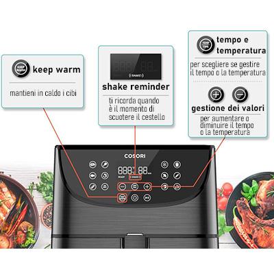 funzioni speciali friggitrice ad aria cosori 3,5 e 5,5 litri