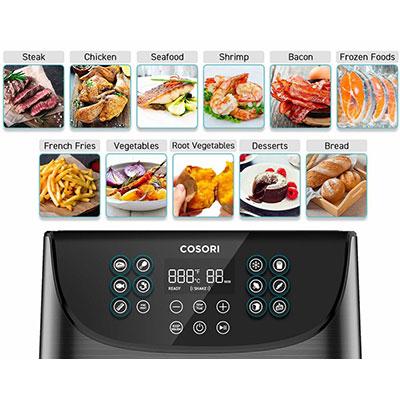 programmi preimpostati friggitrice ad aria calda cosori 5,5 litri