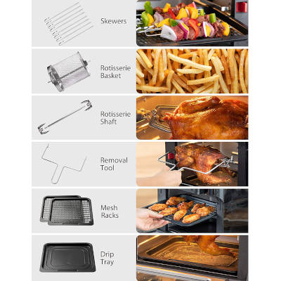 accessori in dotazione friggitrice innsky 10 litri a forno is-af002