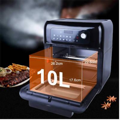 friggitrice ad aria calda a fornetto uten da 10 litri capienza