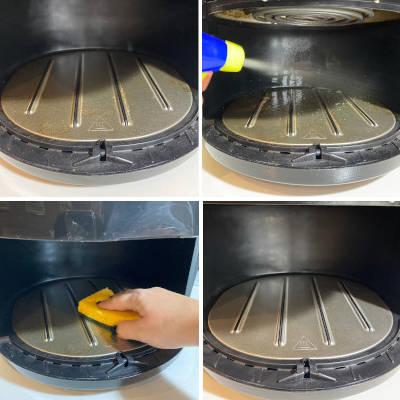pulizia interna friggitrice ad aria calda