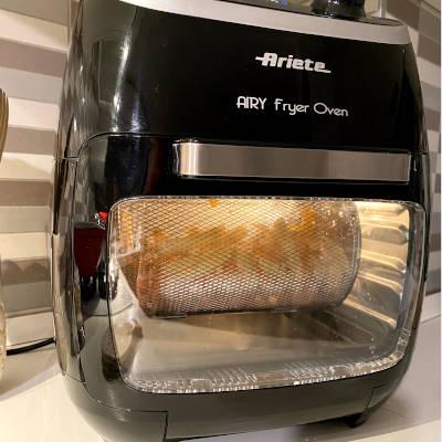 patatine fritte con la friggitrice ad aria a fornetto ariete 4619