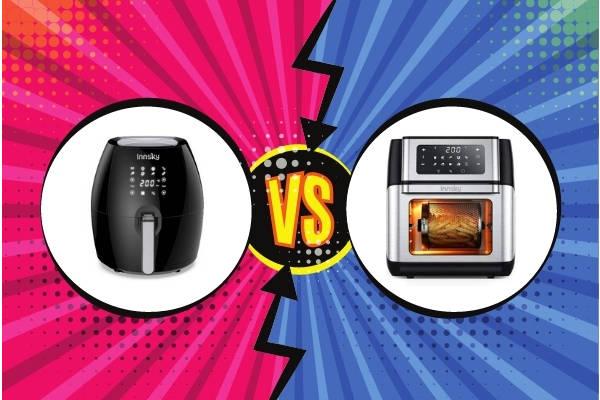 confronto tra friggitrice ad aria a fornetto e a cassetto