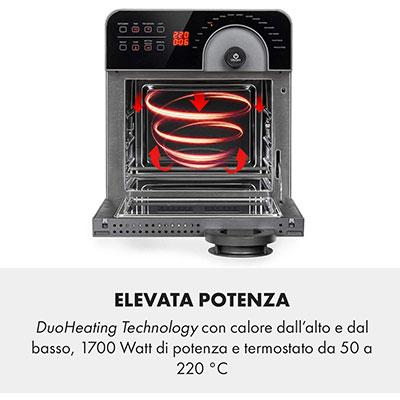friggitrice ad aria con doppia resistenza aerovital cube chef klarstein