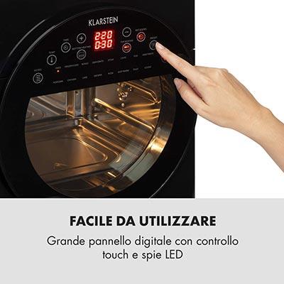 pannello di controllo friggitrice klarstein aerovital easy touch