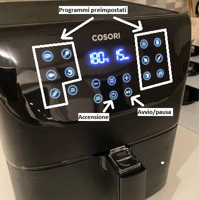 come si usa la friggitrice ad aria calda