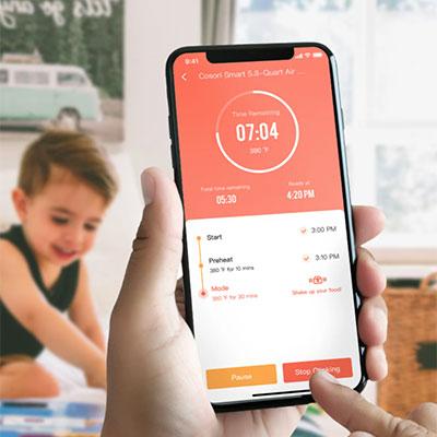friggitrice ad aria cosori con controllo da smartphone