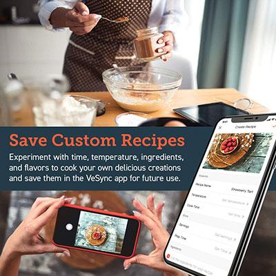 salvare le ricette per friggitrice ad aria tramite l'app per smartphone
